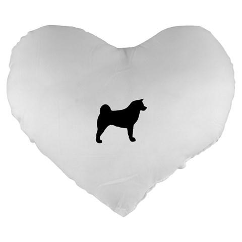 Akita Silo2 Large 19  Premium Heart Shape Cushions