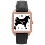 Akita Silo2 Rose Gold Leather Watch  Front