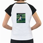 English Springer Catching Ball Women s Cap Sleeve T Back