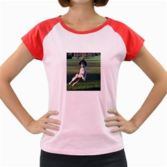English Springer Catching Ball Women s Cap Sleeve T-Shirt