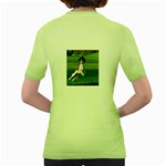 English Springer Catching Ball Women s Green T-Shirt Back