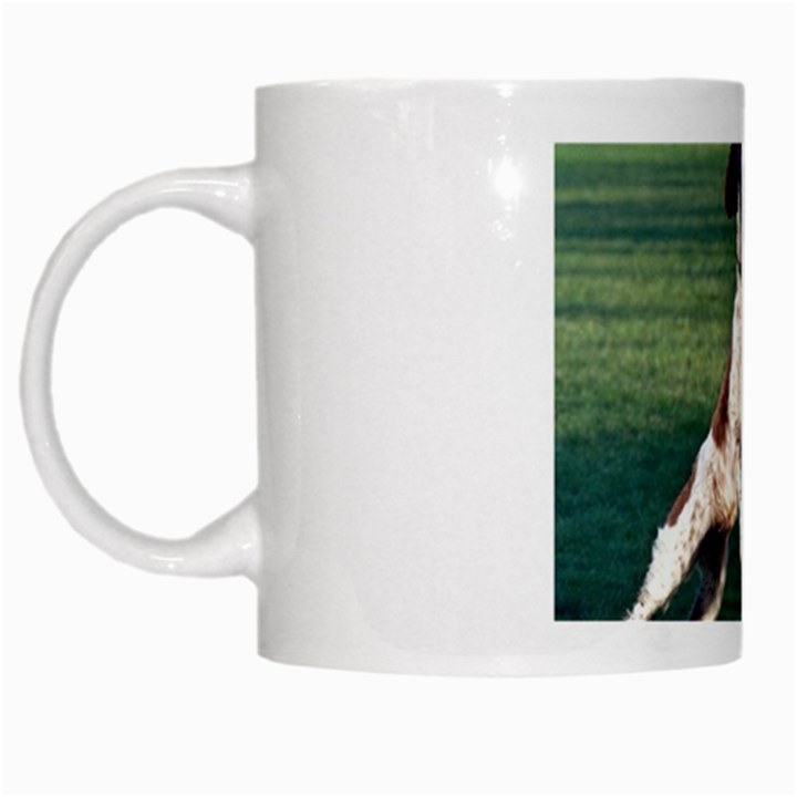 English Springer Catching Ball White Mugs