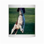 English Springer Catching Ball White Mugs Center