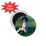 English Springer Catching Ball 1.75  Magnets (100 pack)  Front