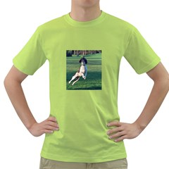 English Springer Catching Ball Green T-Shirt