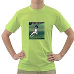 English Springer Catching Ball Green T-Shirt Front