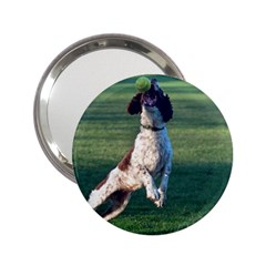 English Springer Catching Ball 2.25  Handbag Mirrors