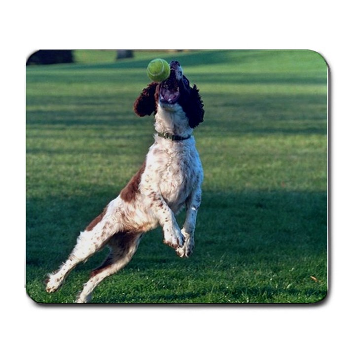 English Springer Catching Ball Large Mousepads