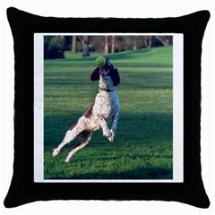 English Springer Catching Ball Throw Pillow Case (Black)