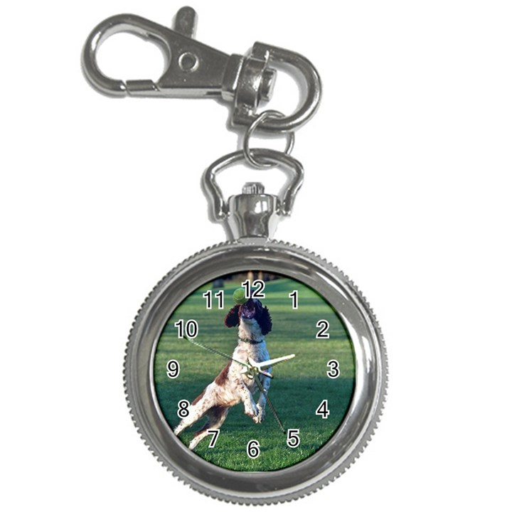 English Springer Catching Ball Key Chain Watches