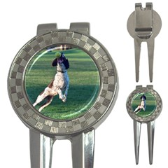 English Springer Catching Ball 3-in-1 Golf Divots