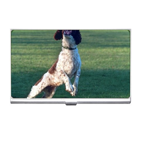 English Springer Catching Ball Business Card Holders