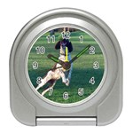 English Springer Catching Ball Travel Alarm Clocks Front