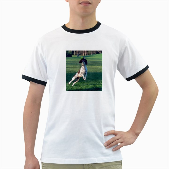 English Springer Catching Ball Ringer T-Shirts