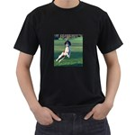 English Springer Catching Ball Men s T-Shirt (Black) (Two Sided) Front