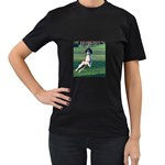 English Springer Catching Ball Women s T-Shirt (Black) (Two Sided) Front
