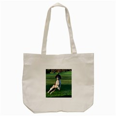 English Springer Catching Ball Tote Bag (Cream)