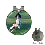 English Springer Catching Ball Hat Clips with Golf Markers Front