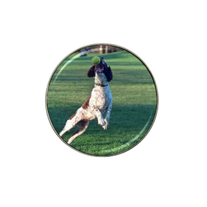 English Springer Catching Ball Hat Clip Ball Marker