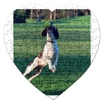 English Springer Catching Ball Jigsaw Puzzle (Heart) Front