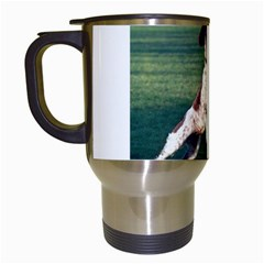 English Springer Catching Ball Travel Mugs (White)