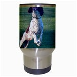 English Springer Catching Ball Travel Mugs (White) Center