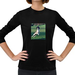 English Springer Catching Ball Women s Long Sleeve Dark T-Shirts