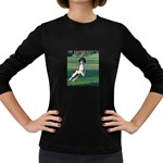 English Springer Catching Ball Women s Long Sleeve Dark T-Shirts Front