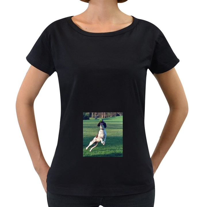 English Springer Catching Ball Women s Loose-Fit T-Shirt (Black)