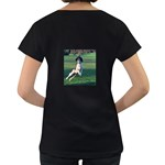 English Springer Catching Ball Women s Loose-Fit T-Shirt (Black) Back