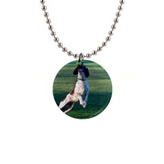 English Springer Catching Ball Button Necklaces