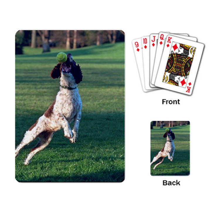 English Springer Catching Ball Playing Card