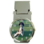 English Springer Catching Ball Money Clip Watches Front