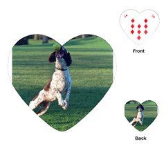 English Springer Catching Ball Playing Cards (Heart)