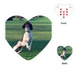 English Springer Catching Ball Playing Cards (Heart)  Front