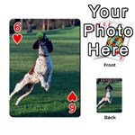 English Springer Catching Ball Playing Cards 54 Designs  Front - Heart6