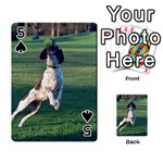 English Springer Catching Ball Playing Cards 54 Designs  Front - Spade5