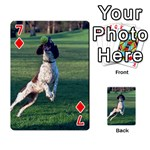 English Springer Catching Ball Playing Cards 54 Designs  Front - Diamond7