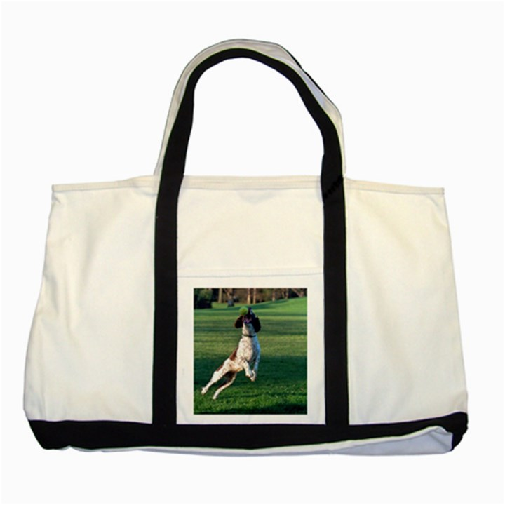 English Springer Catching Ball Two Tone Tote Bag