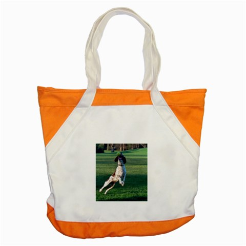 English Springer Catching Ball Accent Tote Bag