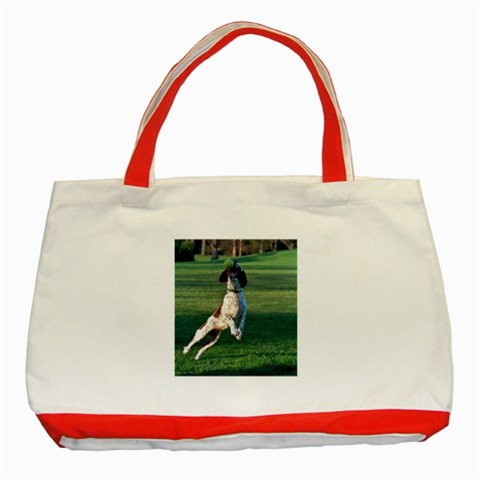 English Springer Catching Ball Classic Tote Bag (Red)