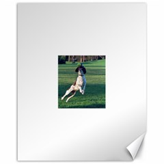 English Springer Catching Ball Canvas 16  x 20