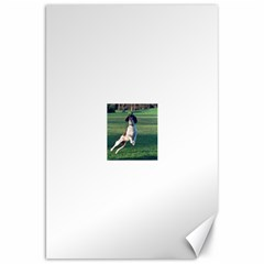 English Springer Catching Ball Canvas 20  x 30