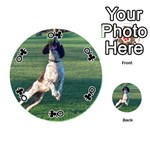 English Springer Catching Ball Playing Cards 54 (Round)  Front - ClubQ