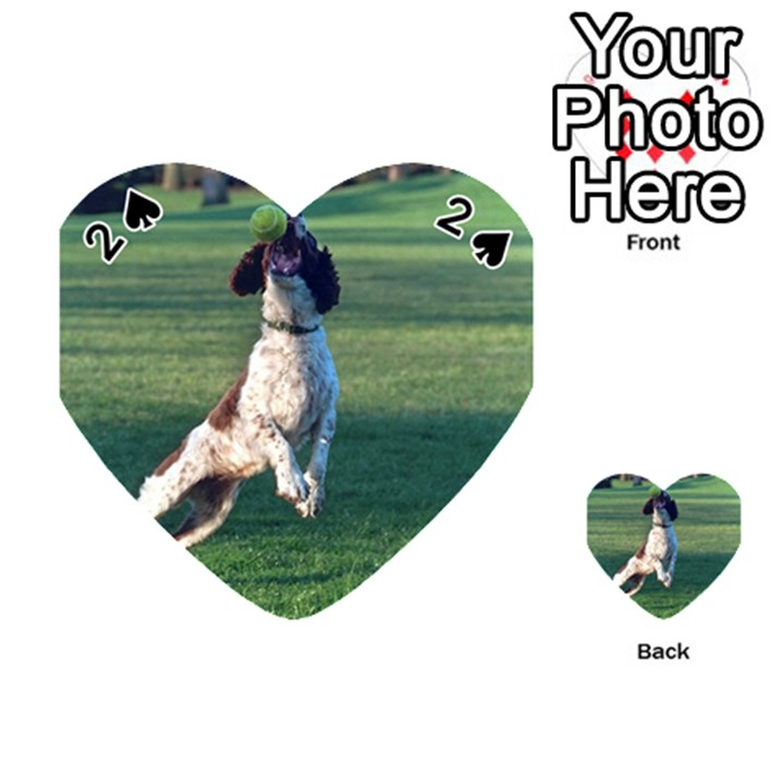 English Springer Catching Ball Playing Cards 54 (Heart)