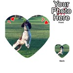 English Springer Catching Ball Playing Cards 54 (Heart)  Front - Heart7