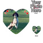 English Springer Catching Ball Playing Cards 54 (Heart)  Front - Heart9
