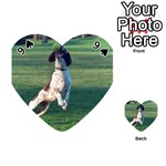 English Springer Catching Ball Playing Cards 54 (Heart)  Front - Spade9