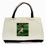 English Springer Catching Ball Basic Tote Bag (Two Sides) Back