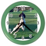 English Springer Catching Ball Color Wall Clocks Front